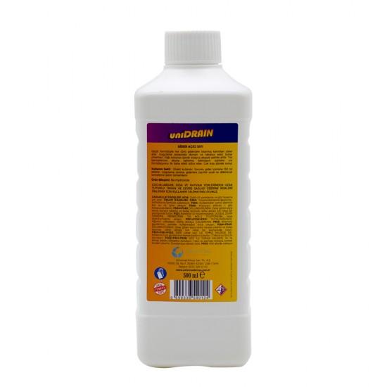 UNI DRAIN - (Kullanıma Hazır) Sıvı Gider Açıcı 500 ml